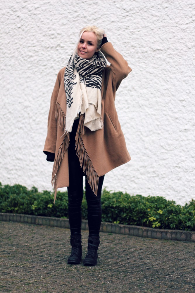 black and camel