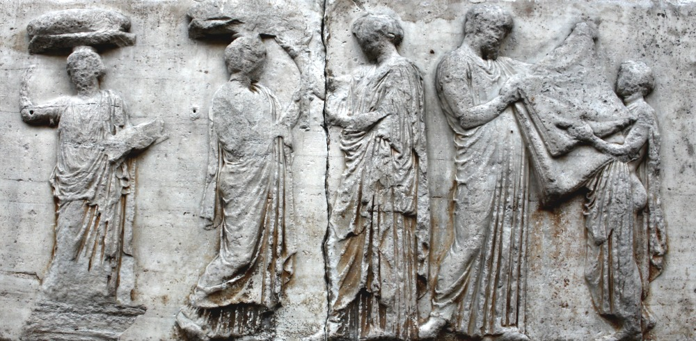 Parthenon frieze central slab